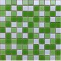 景观水池桑拿房卫浴瀑布绿色玻璃马赛克瓷砖