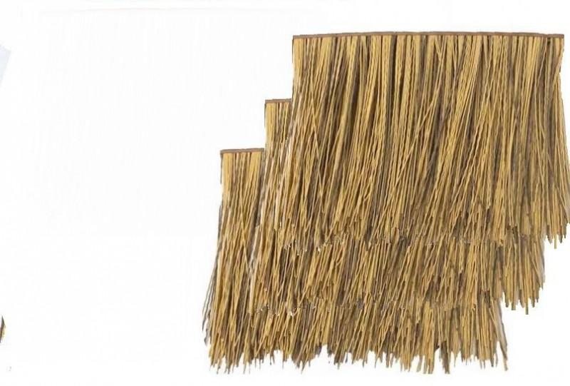 原始人类PVC塑料防火阻燃茅草稻草屋面房屋真美观
