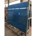 蓝色烤漆玻璃