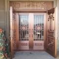 西安别墅玻璃铜门